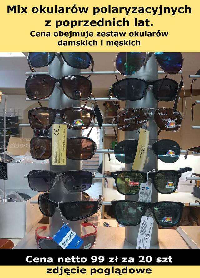 okulary MIX OKULARÓW POLARYZACYJNYCH. 20 SZT.