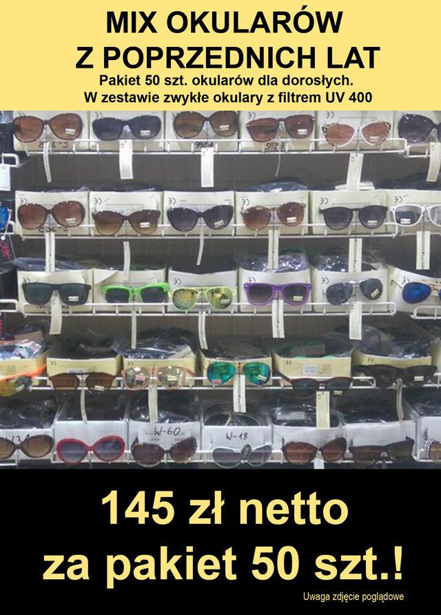 okulary MIX OKULARÓW Z FILTREM UV400