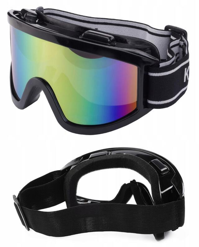 okulary GOGLE NARCIARSKIE OKULARY NARTY KOESTLER SNOWBOARD TĘCZA